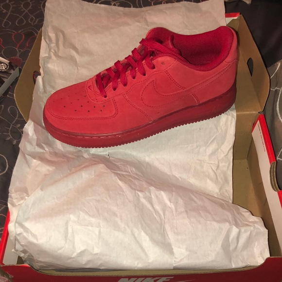 New Year Deals All Red Nikeid Air Force One 1 Triple Red Ah6512 991